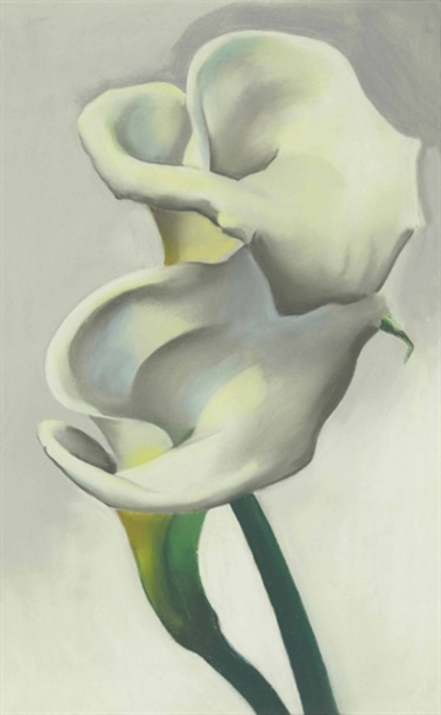 Two Calla Lilies Together,1923. Image via Barnebys