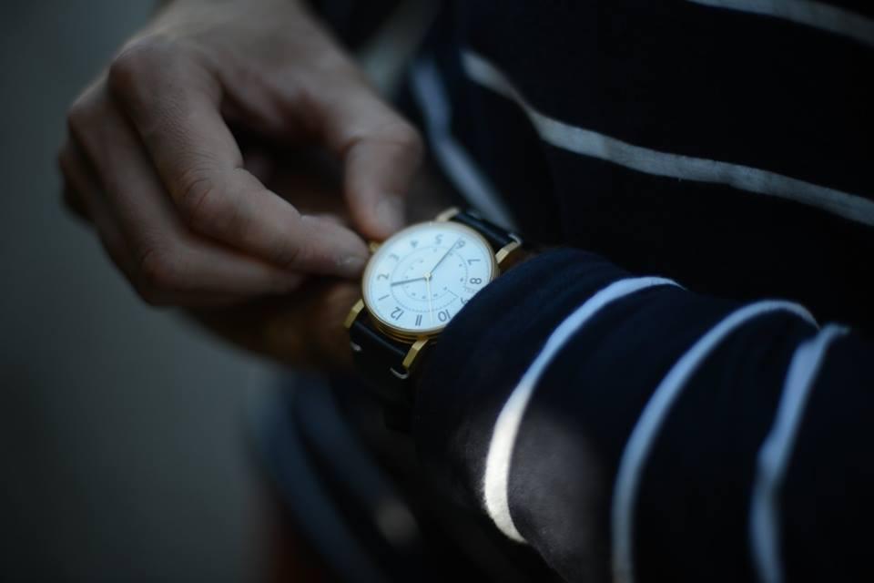 Todays Wristshot: Hirwill 01, gold coating on a swedish leatherstrap.