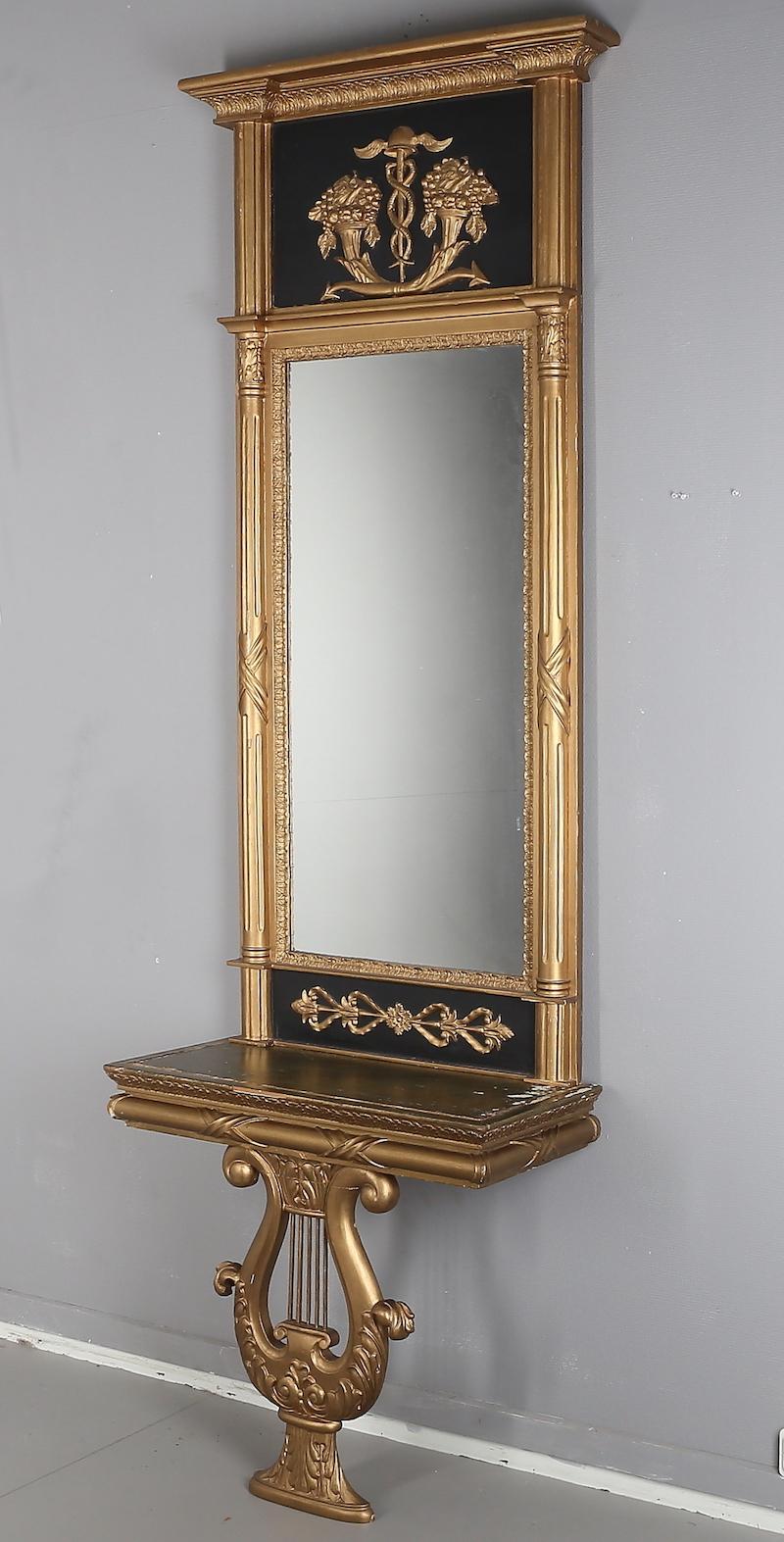Spegel Med konsolbord, Valde.