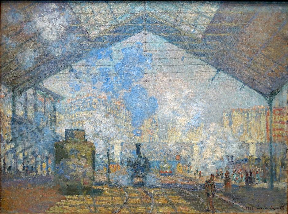 Claude Monet, Saint-Lazare Train Station, 1877, Musée d'Orsay