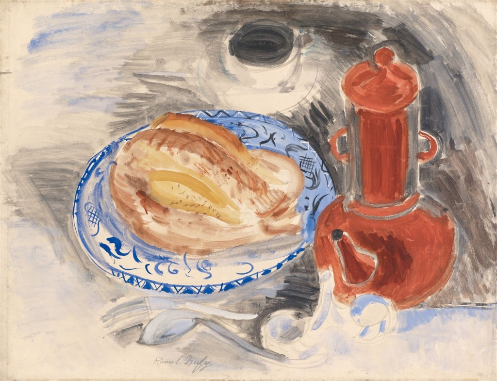Raoul Dufy, Still life with chicken and red coffeepot