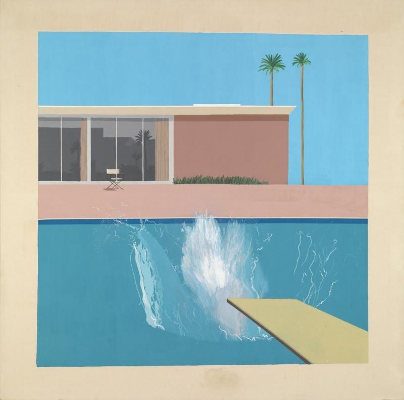 Bigger Splash, år 1967. Foto via Tate Modern.