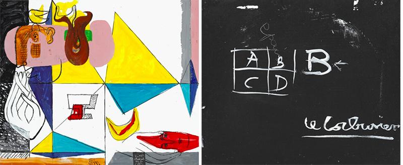 Le Corbusier: Untitled, 1954–1958. Signé L-C Chandigarh dec. 54–10. mai 58; signé, Émail sur métal