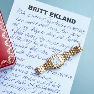 """Todays Wristshot CARTIER, Panthère, """"Ms. Britt Ekland"""", Cal 157.06, 21,5 x 21,5 (29,5) mm, quartz, 65,3 gram, ca 1987, LOT4(photo:kaplans.se)"""