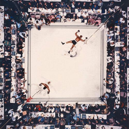 Muhammad Ali efter match mot Cleveland Williams, 1966. Foto: Phillips.