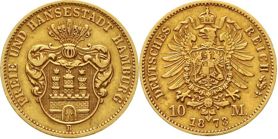 Hamburg 10 Mark 1873