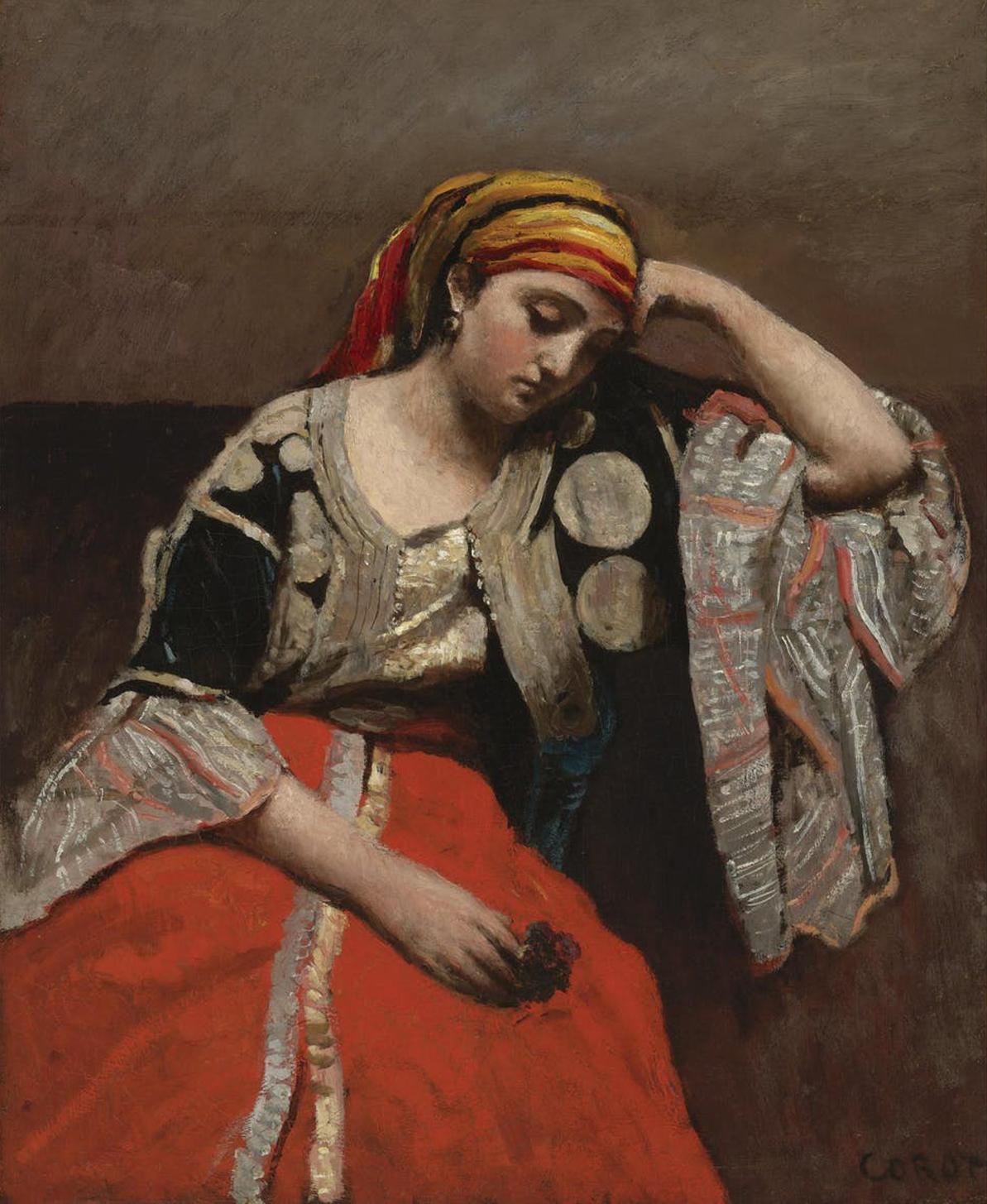 Jean-Baptiste Corot, « Juive d'Alger », huile sur toile, vers 1870