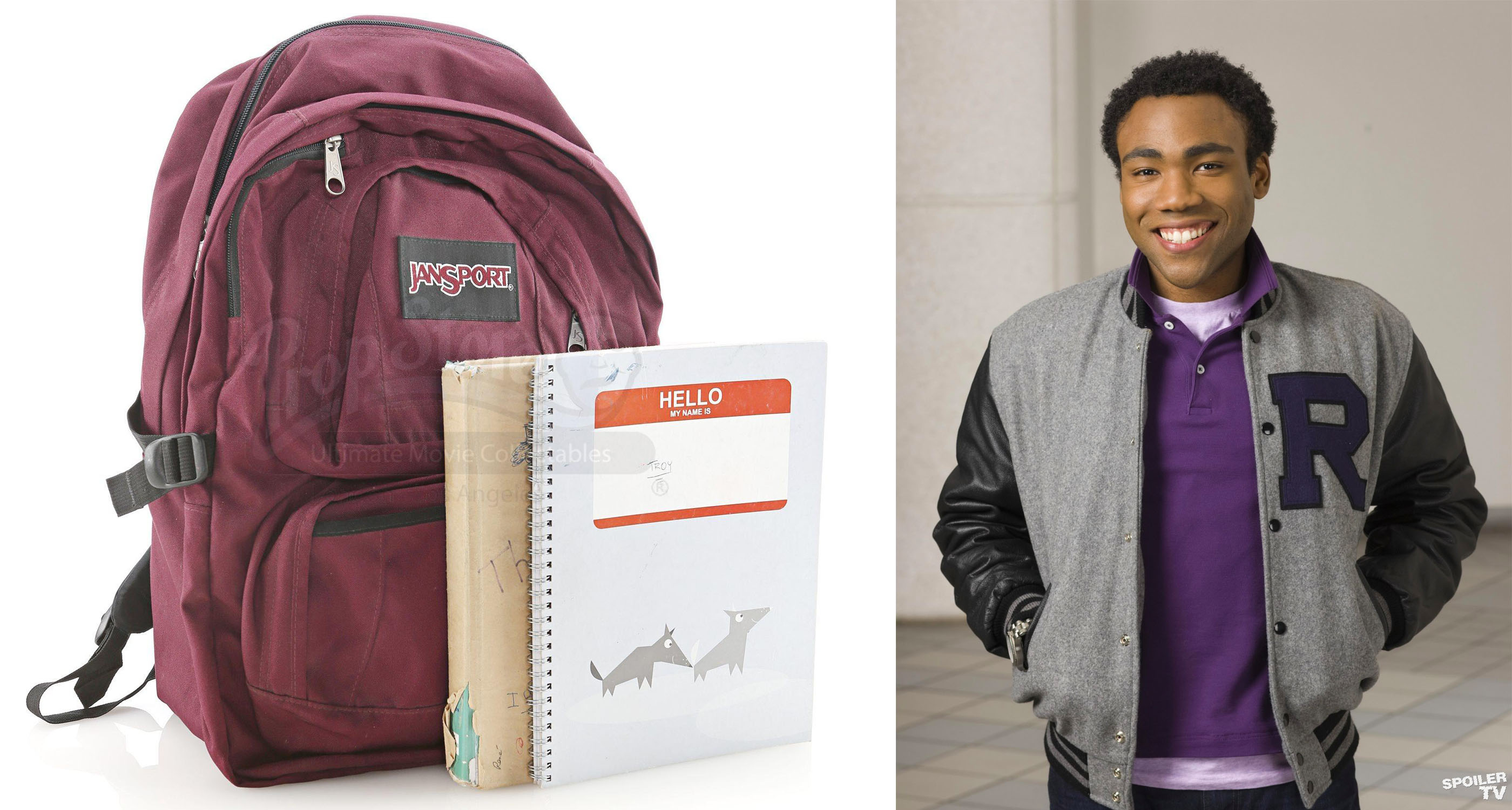Troy Barnes' (Donald Glover) Backpack and Books