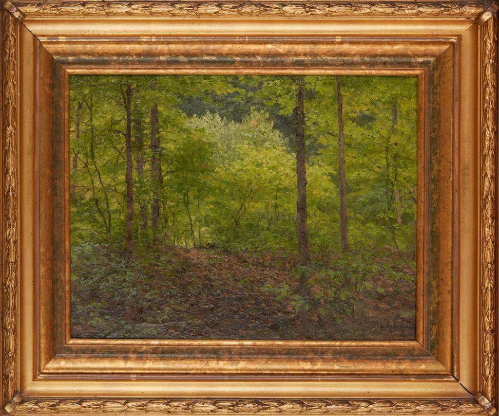 Forest Landscape, Ivan Ilyich Levitan. 1890-1900, Oil on cardboard.