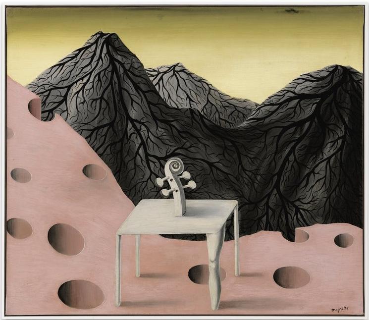 « Le Toit du monde » (1945) par René Magritte vendu 2017 pour 2,4 millions GBP chez Sotheby's, image ©Sotheby's
