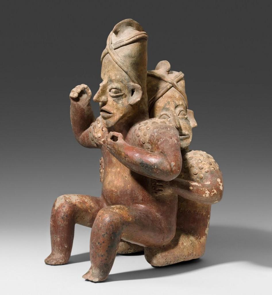 Keramikfigur eines sitzenden Paares, Jalisco, West-Mexiko, um 200 v. Chr.-200 n. Chr. Schätzung: 8.000-12.000 CHF (7.620-11.430 EUR)