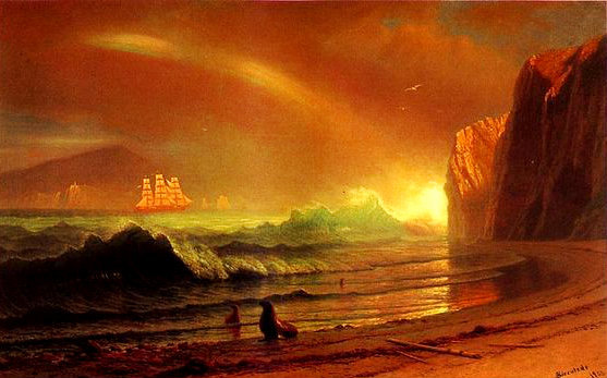"ALBERT BIERSTADT. ""The Golden Gate"". Óleo sobre lienzo (1900)"