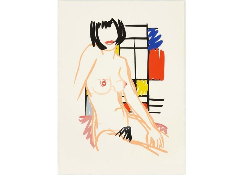 TOM WESSELMANN. Monica Sitting with Mondrian (1989)