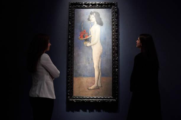 Pablo Picasso, « Fillette à la corbeille fleurie », 1905