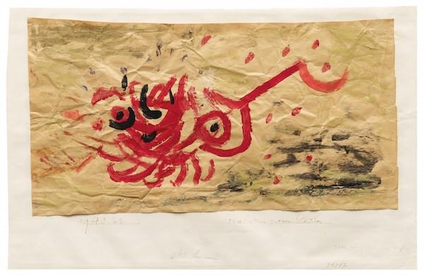 """Paul Klee, """"Praeludium zu einem Ständchen"""", signerad och daterad 1940. Utropspris: 2,1 - 2,3 miljoner kronor."""