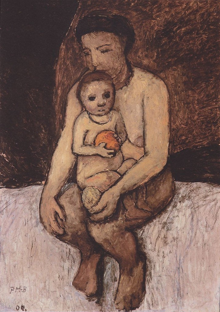 Paula Modersohn-Becker, « Seated Mother with a Child on Her Lap », 1906, ©Von der Heydt Museum, Wuppertal