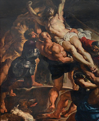 L'Érection de la croix (détail), Sir Peter Paul Rubens, image viaFlickr