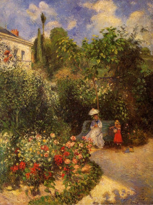 The Garden at Pontoise, Camille Pissarro. 1877, oil on canvas. Image: Daily Dose of Art