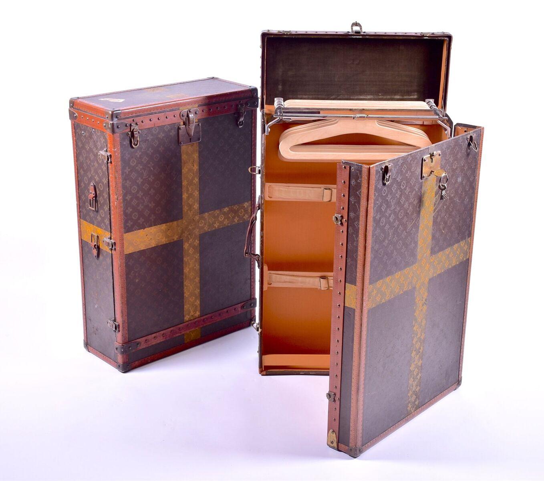Louis Vuitton: Two 1930s Louis Vuitton travelling wardrobes