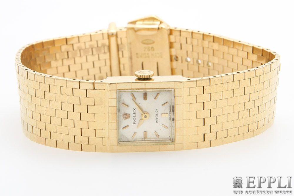 ROLEX - Damenarmbanduhr aus GG mit Handaufzug, 1960er Jahre Aufrufpreis: 2.880 EUR