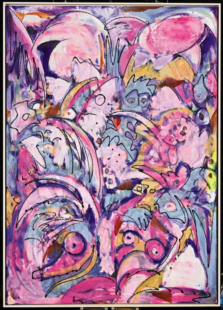 Jim Thorell, Freak Farm 2015. Acrylic on Canvas