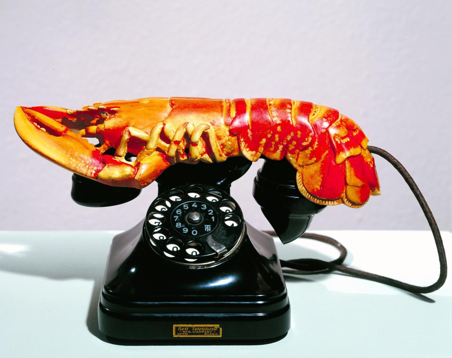 Salvador Dalí, Lobster Telephone, 1936   Foto: Tate