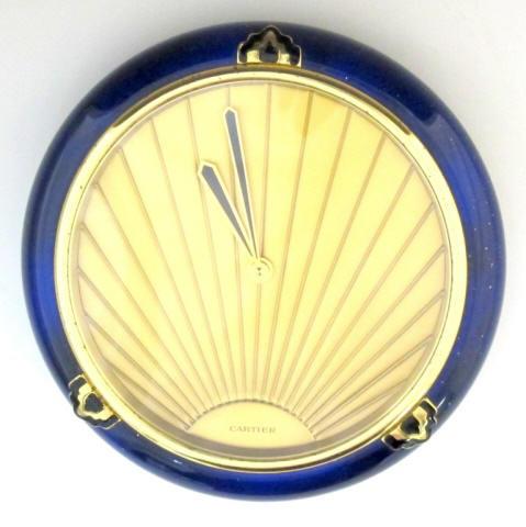 Cartier Art Deco-style desk clock