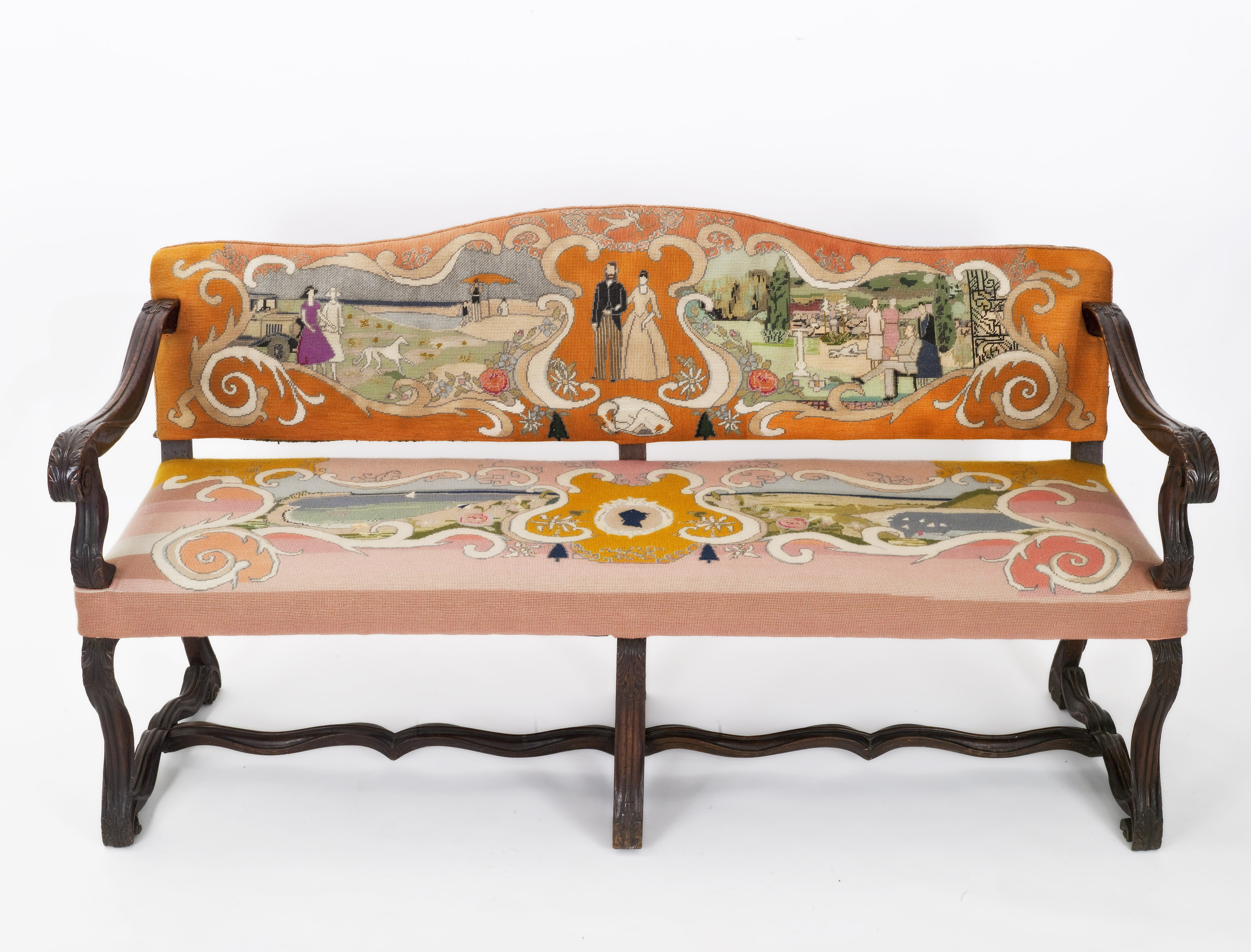 NHA_Italian Settee with Canvaswork Upholstery