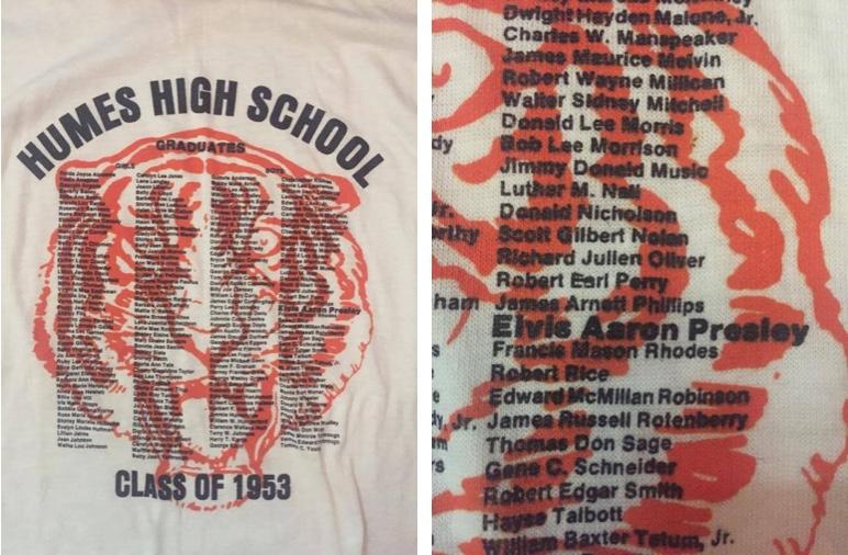 Absolventen-T-Shirt eines Klassentreffens der Humes High School, Elvis' Jahrgang 1953