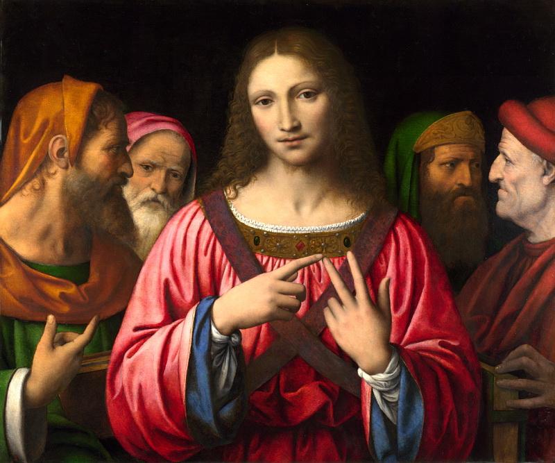 Bernardino Luini, Cristo tra i dottori (Jesus unter den Schriftgelehrten), 1515-30