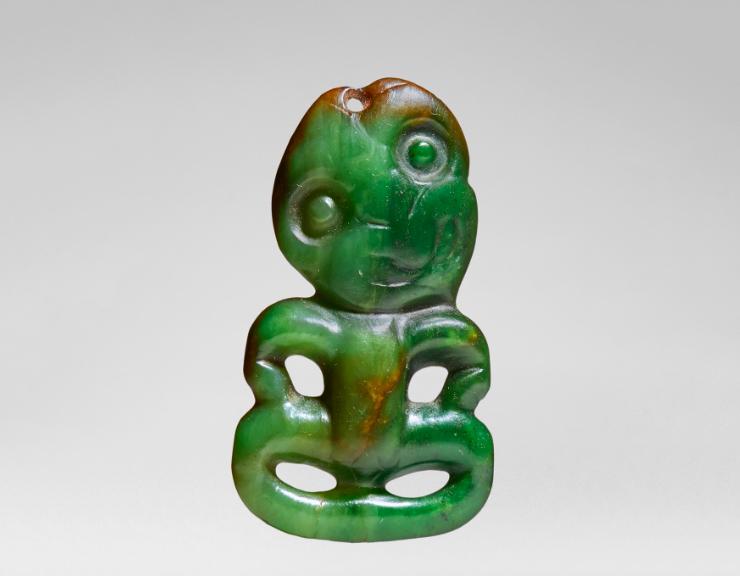 Pendant Hei-Tiki of the Maori, nephrite. Image: Native