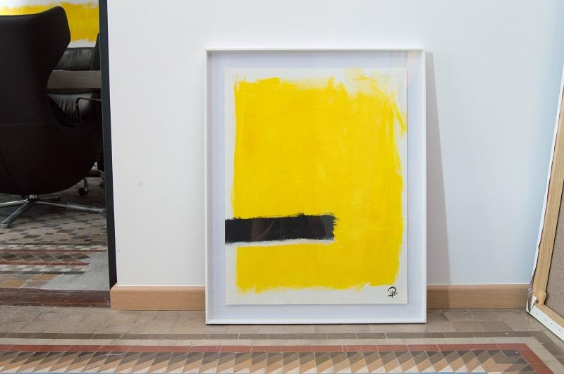 """Serafín Llopir. """"Untitled (Abstract Framed 1 Yellow)"""""""