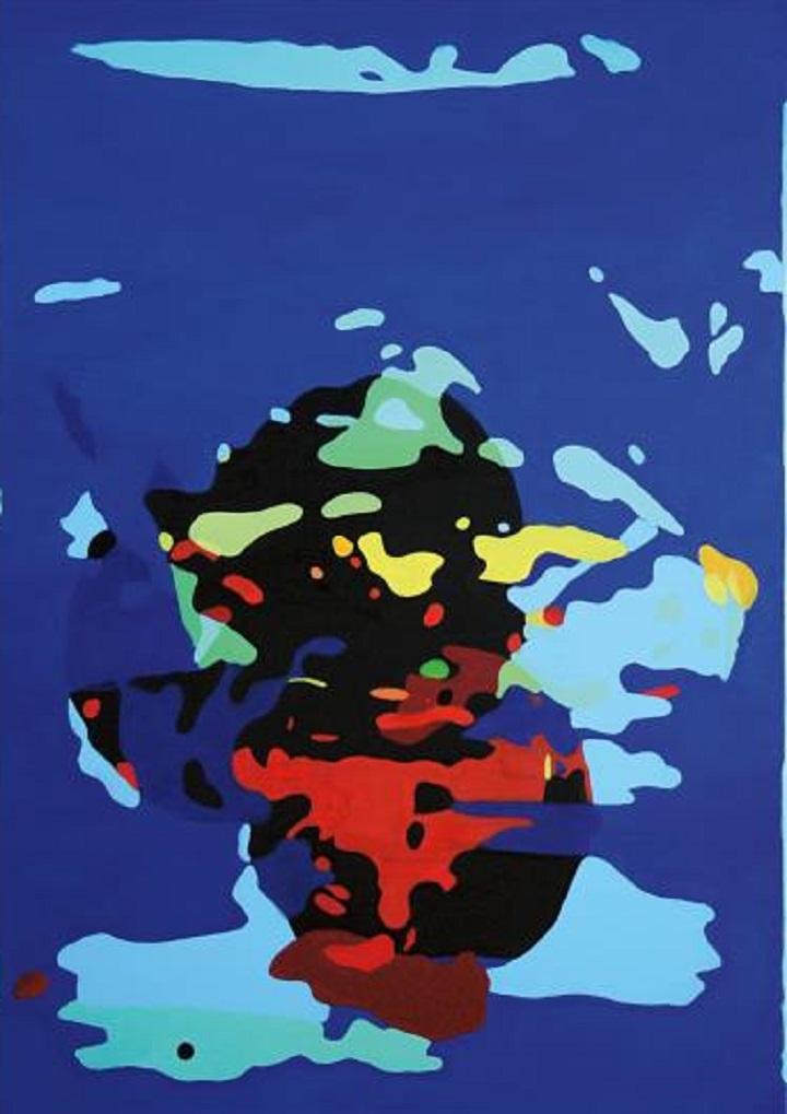 JONAS LUND Under The Influence #2, 2014 oil on canvas in artist's frame
