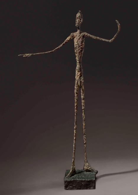 « L'Homme au doigt », Alberto Giacometti, image ©