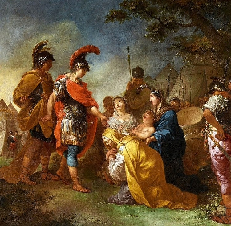 JANUARIUS ZICK (1730 Munich 1797 Ehrenbreitstein) - Two paintings: Alexander the Great and the Family of Darius and The Abstinence of Scipio, each 142 x 184 cm, signed, late 18th century Estimate: 100 000-120 000 EUR
