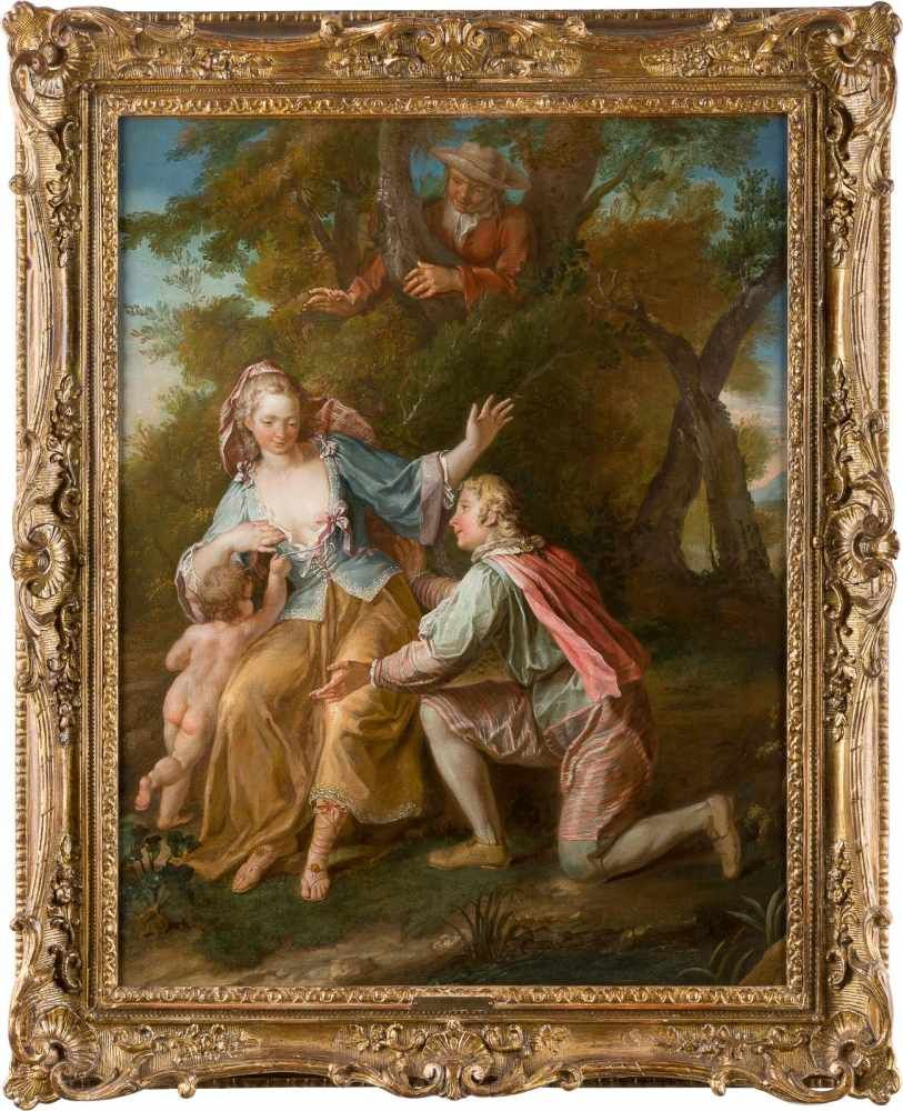LOUIS-MICHEL VAN LOO (1707 Toulon - 1771 Paris) - Galante Szene, Öl/Lwd.