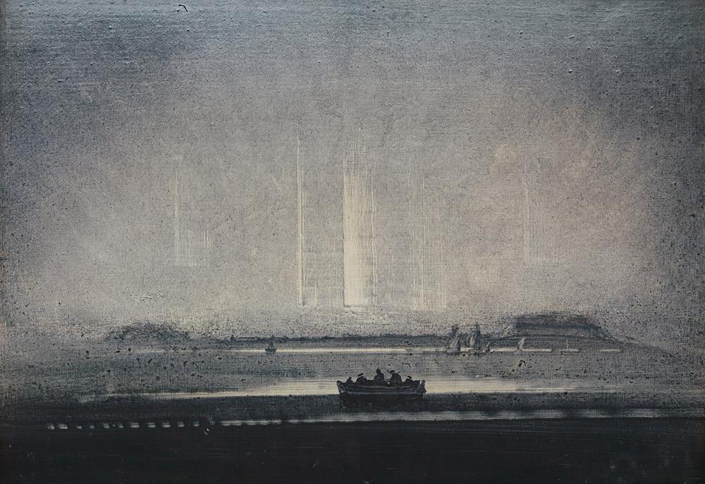 Peder Balke Nordlys, Vardø troligen 1870-tal, såldes för 700 000 NOK. Foto: Blomqvist.