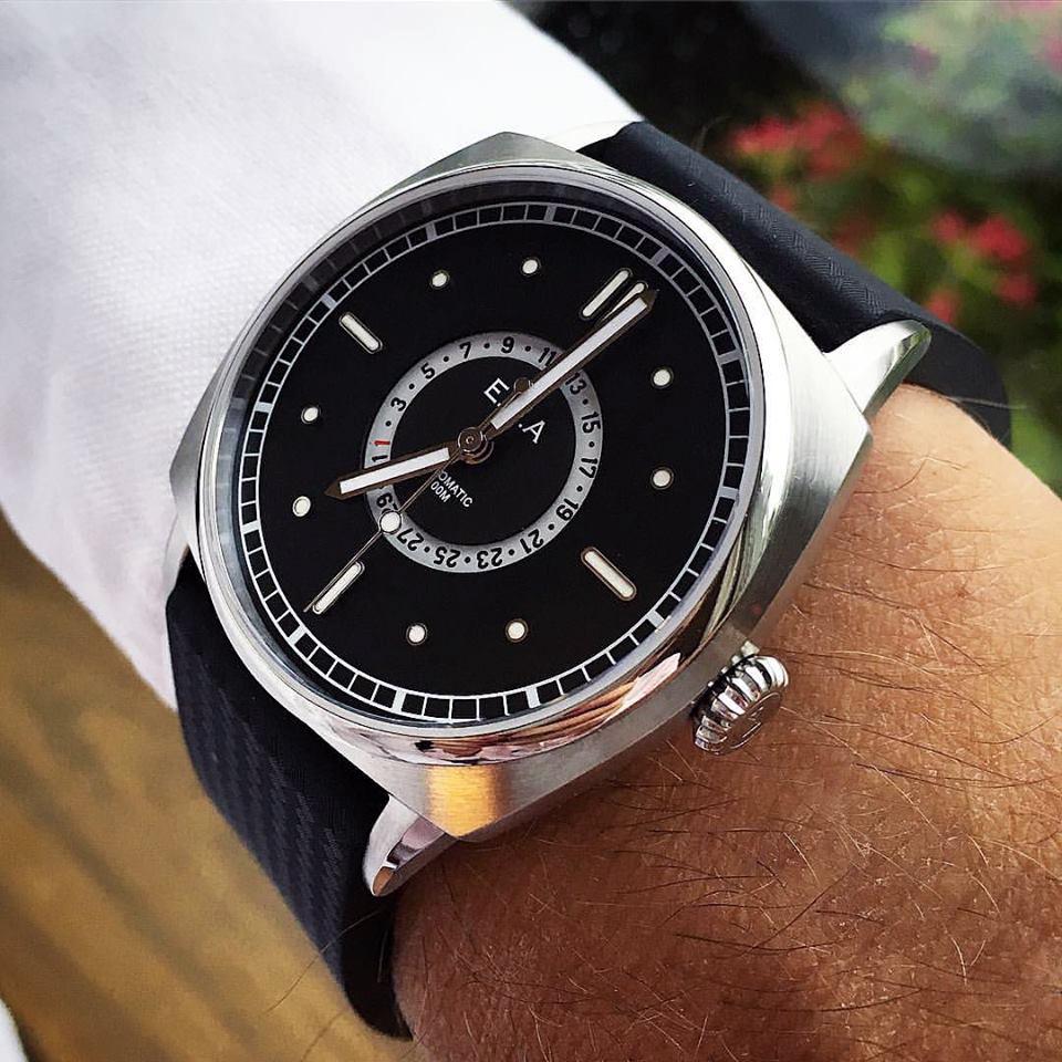 Todays Wristshot: E.C.A North Sea Watch on black rubberstrap(photo:ECAWC)