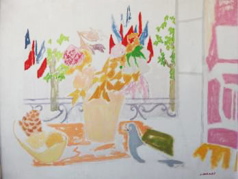 Jules CAVAILLES - Le 14 Juillet, Huile sur toile signée PrivateLot.com