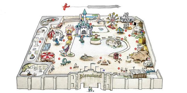 Dismaland: le plan des lieux © Dismaland
