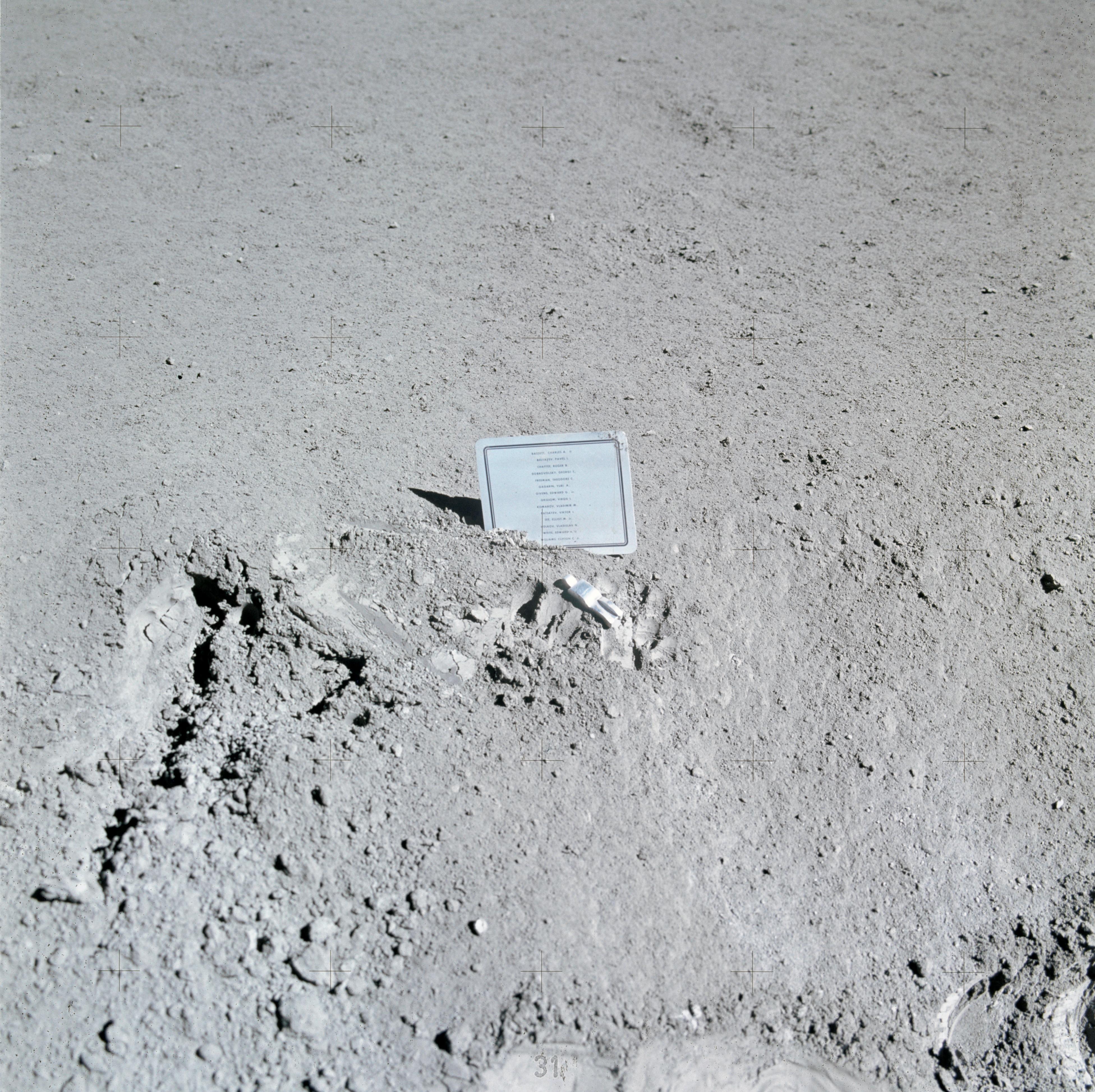 Paul Van Hoeydonck, Fallen Astronaut, 1971, image via Wikipedia via NASA
