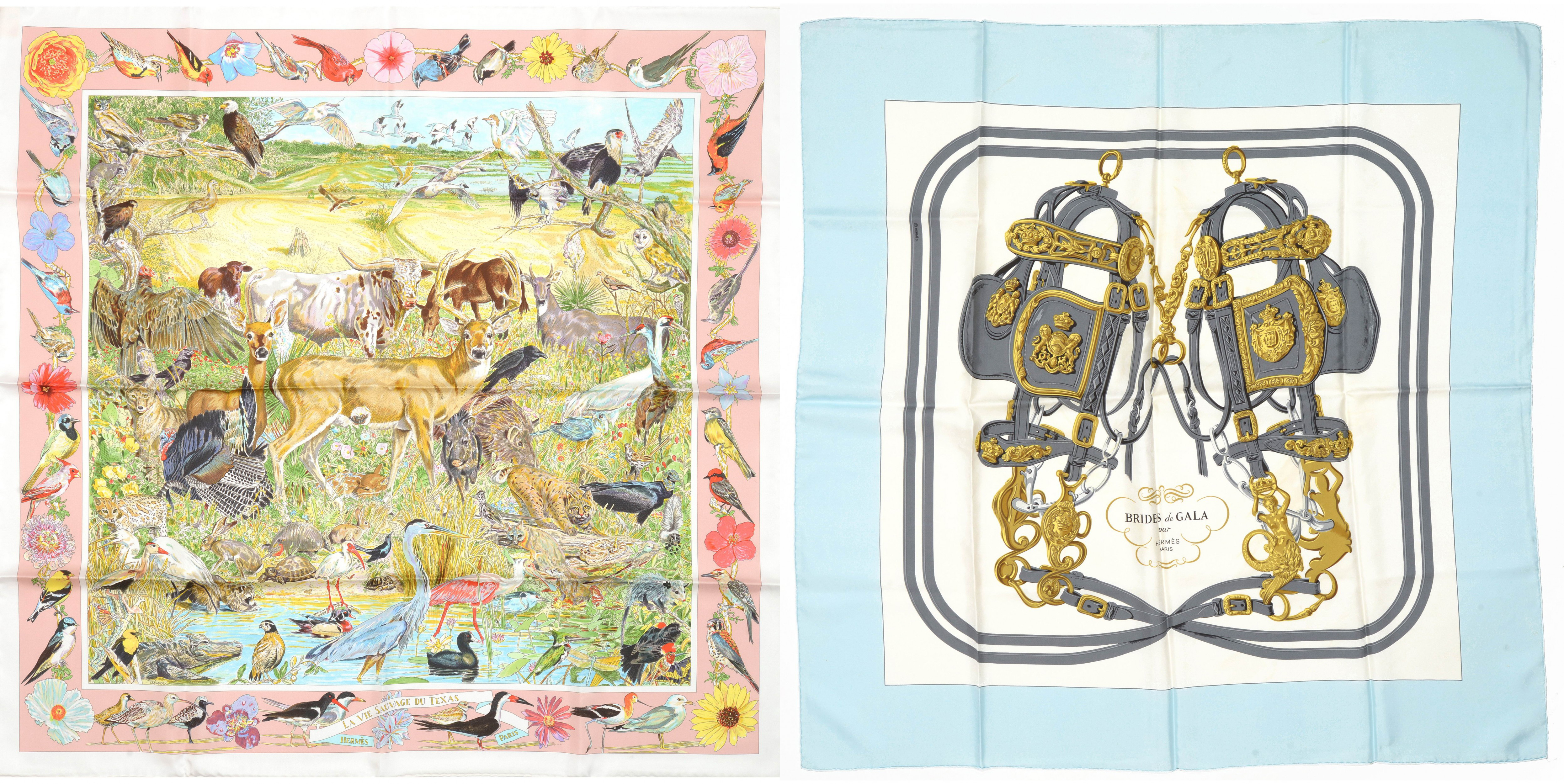 Hemrès carrés, 'Texas Wildlife' and 'Brides de Gala'. Image: HVMC