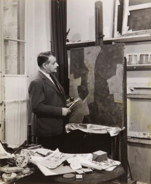 SERGE POLIAKOFF Portraits du peintre dans son atelier, ca. 1964 Image via yannlemouel.com