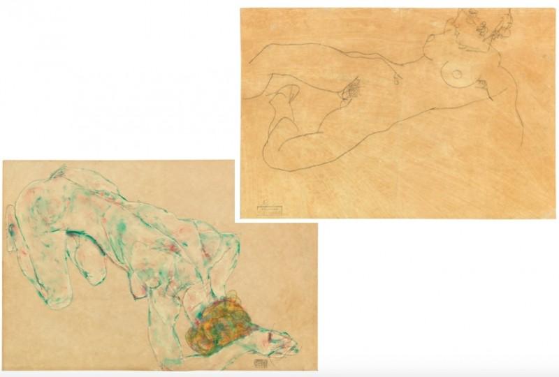 Egon Schiele, penna på papper. Foto: Dorotheum.