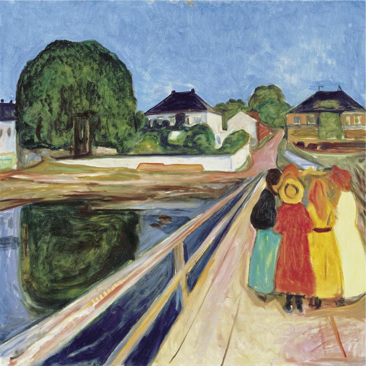 """Edvard Munchs """"Flickorna på bron"""" klubbades för ungefär 500 miljoner svenska kronor på Sotheby´s som har ett synnerligen bra facit av att sälja verk av den norske konstnären"""