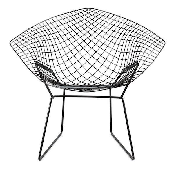 "Harry Bertoia, ""Diamond Chair""."