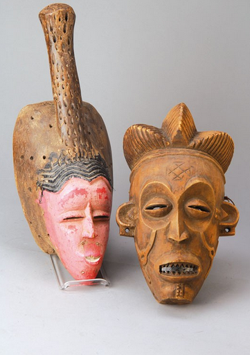 Masques, Congo, vers 1920 Henry's Estimation basse: 300 €