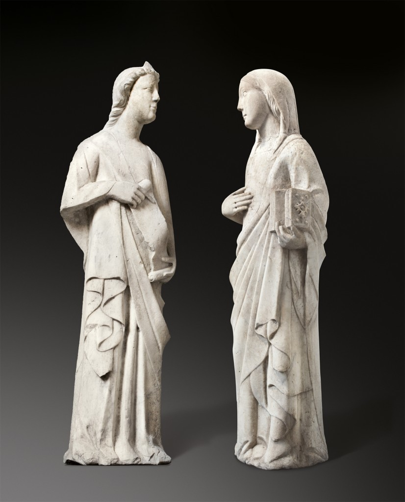 Andrea Pisano (workshop) Circa 1290 Pontedera near Pisa – 1348 Orvieto Figures from an Annunciation to Mary. Circa 1345