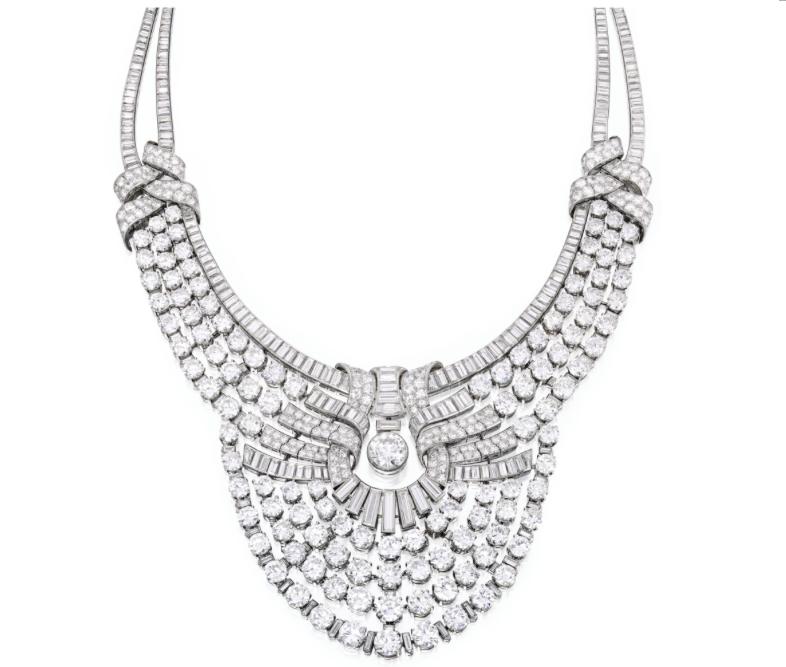 Halsband med diamanter från Van Cleef & Arpels, Frankrike. Proveniens: Drottning Nazli, tidigare drottning av Egypten.