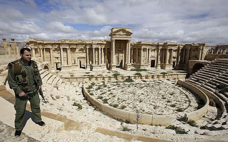 En av soldaterna på plats i Palmira som in i det sista försökte försvara den kulturhistoriska stoltheten Palmira